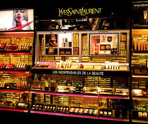 make up, Yves Saint Laurent, and YSL image