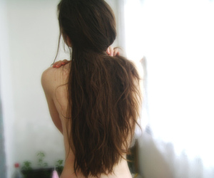hair, girl, and vintage image