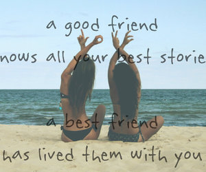 friends, love, and quote image