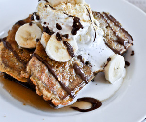 banana, chocolate, and food image