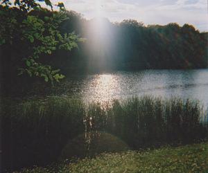 nature, lake, and sun image