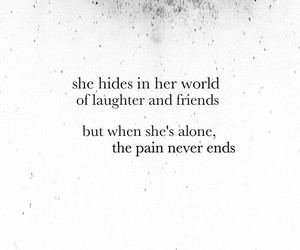 pain, alone, and quote image