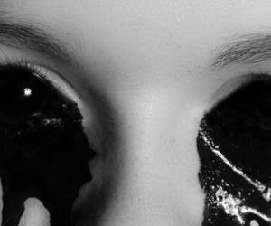 eyes, blood, and black image