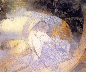 1897, swan lake, and georges de feure image