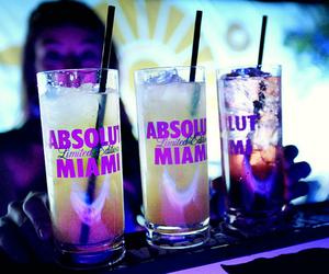 drink, Miami, and party image