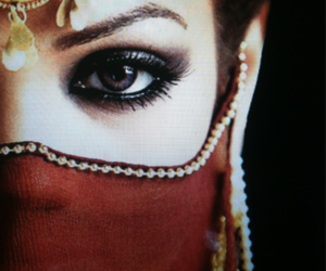eyes, veil, and woman image