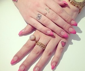 nails, tattoo, and girly image