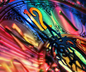 clock, time, and colorful image