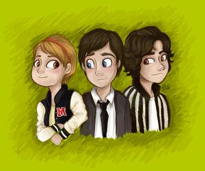 charlie, logan lerman, and Sam image