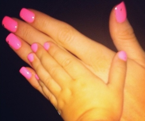 nails, baby, and pink image