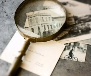 old photography and magnifier image