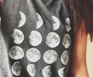 moon, shirt, and clothes image
