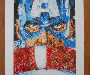 art, print, and captain america image