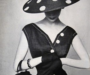 vintage, dress, and black and white image