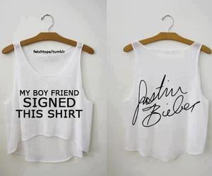 justin bieber, boyfriend, and shirt image