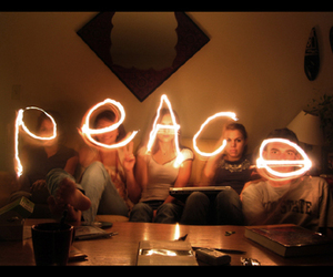 peace, light, and friends image