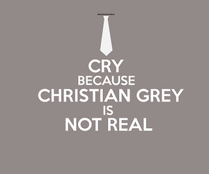christian grey, fifty shades of grey, and cry image