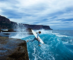 surf, ocean, and surfer image