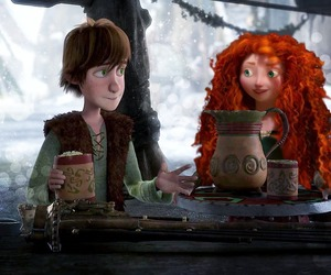 brave, how to train your dragon, and couple image