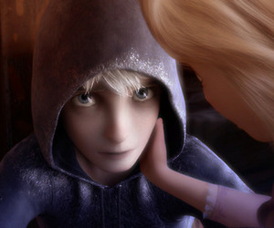 couple, jack frost, and rapunzel image