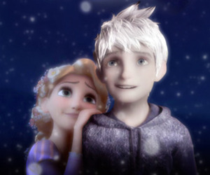 jack frost, rapunzel, and couple image