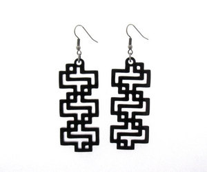 earrings, jewelry, and laser cut image