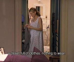 clothes, sex and the city, and closet image