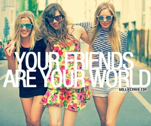 friends, girl, and world image
