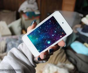 galaxy, iphone, and nails image
