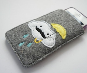 case, iphone, and mustache image