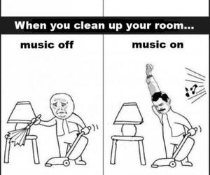 music, funny, and room image