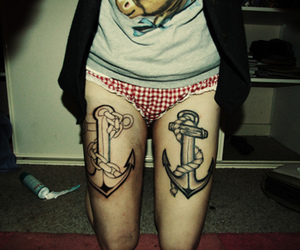 tattoo, anchor, and girl image