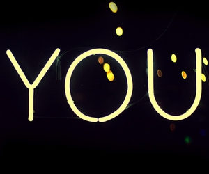 you and text image