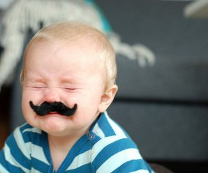 baby, cute, and mostache image