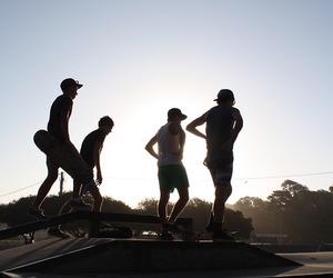 skater, skate, and sunset image