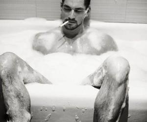 bath, man, and naked image