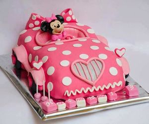 pink, cake, and minnie image