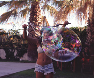 belly, bubble, and girl image
