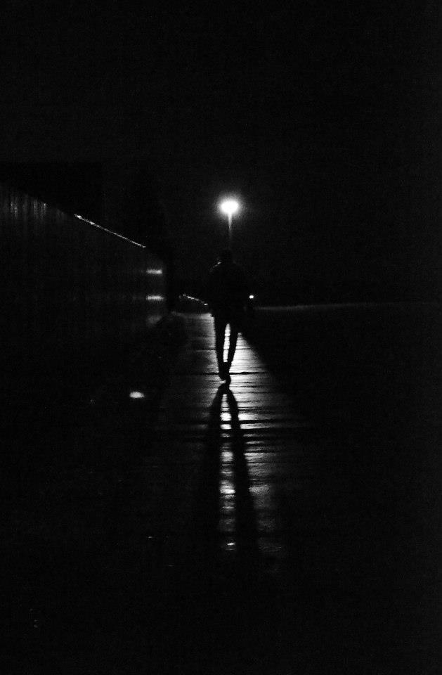 black and white, shadow, and dark image