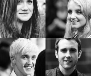 bonnie wright, cast, and draco malfoy image