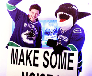 cory monteith, vancouver canucks, and hockey image