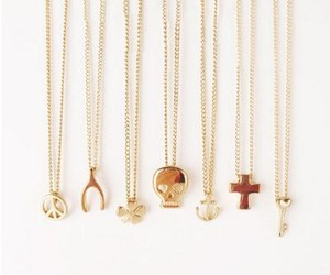 necklace, peace, and cross image