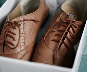 shoes, vintage, and brown image