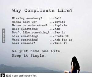 life, simple, and quotes image