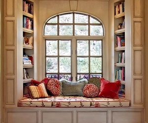 book, window, and room image