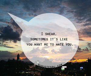 quote, hate, and swear image