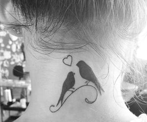 tattoo, bird, and heart image