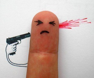 fingers, gun, and funny image