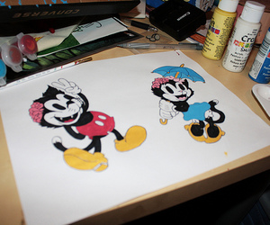 drop dead, mickey mouse, and drawing image