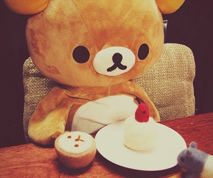 bear, cute bear, and cute food image